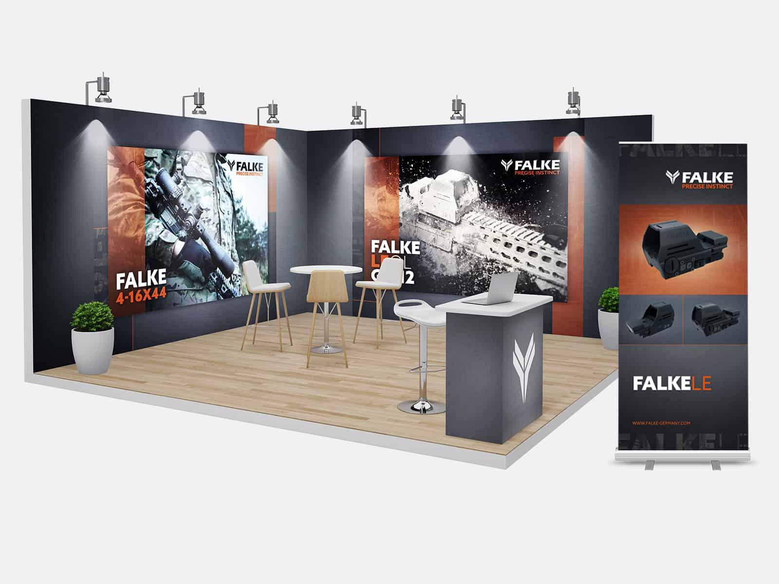 Waffen-Schumacher_FALKE_Messestand